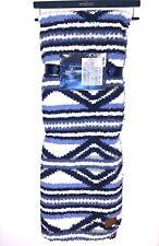 "NWT Pendleton Blue Aztec Sherpa Fleece Reversible Blanket Throw 50"" x 70"""