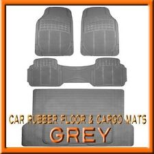 Fits 3PC GMC Terrain Premium Grey Rubber Floor Mats & 1PC Cargo Trunk Liner mat