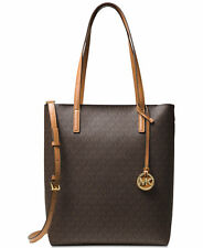 NWTMichael Michael Kors Hayley Large Convertible Signature Tote Bag Brown For Wo