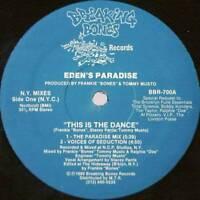 "12"": Eden's Paradise - This Is The Dance - Breaking Bones Records - BBR-700"