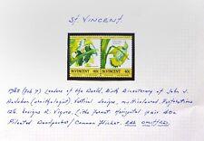 St VINCENT 1985 Audubon Birds Red Omitted Error Variety U/M Pair NC1906