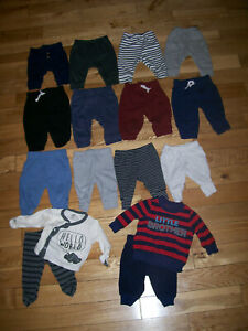 Baby 0-3 M Months Pants Sweats Baby Boy Pants Bottoms Clothes Lot of 15+