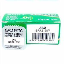 Sony 362 SR721SW 10 piezas Pila Botón