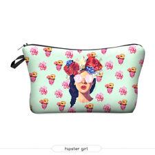 Cosmetic bag pencil case floral crown sunglasses retro stocking stuffer