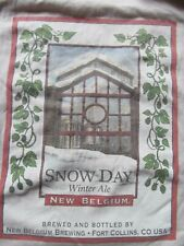 New Belgium Brewing Co Snow Day Winter Ale L/S t shirt sz Large