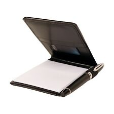 NuFazes Journalist Jotter, Flip Notepad with Pockets and Pen Holder