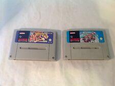 SNES Super Nintendo x2 Games Super Mario Kart & Street Fighter 2 + DK2 Box