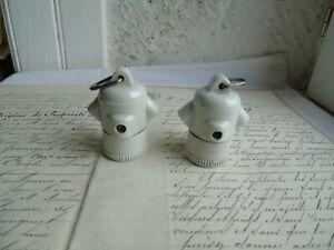 French set of  2 sockets  holder light bulb antique  for B 22