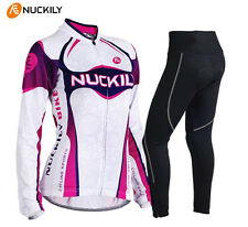 Women's racing cycling clothes jersey&pant set long sleeve cycling ciclismo suit