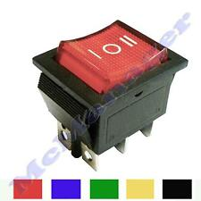 On-Off-On Momentary/ Latching DPDT Rocker Swich 15A/ 230V 6 Pins 2 Circuits