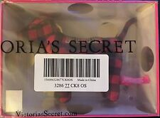 NEW Victorias Secret Pink Mini Mini Giant Dog Limited Edition Red Black Plaid