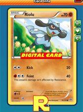 4x Riolu (70 HP) - for Pokemon TCG Online (DIGITAL ptcgo in Game Card)