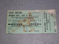 Rocky Marciano vs Don Cockell Full Boxing Ticket 1955 Live Telecast Harrsburg PA