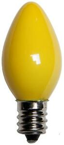 Box of 25 C7 Solid Yellow Frosted Opaque Indoor/Outdoor Christmas Bulbs