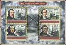 Timbres Trains Centrafrique BF 2516/9 o année 2012 lot 17592 - cote : 20 €
