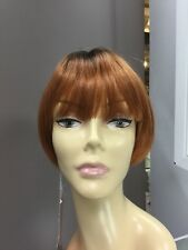 Forever Young PAPER DOLL Bob Straight Short Wig, Autumn Haze, Rooted Copper Red