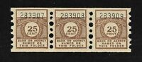 Thrift Savings Deposit Stamps 25 Cent Strip of Three (3)