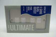 Ultra Slim 4 Gang RJ45 Cat5e Data Socket Outlet Pearl Nickel White Interior