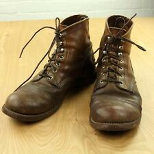 nicely distressed & worn-in RED WING 8111 iron ranger boots, size 11, brown vtg