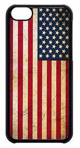 USA American Flag US Grunge Black or White Hard Case Cover For Apple iPod 4 5 6