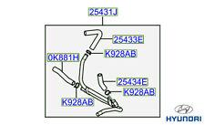 Genuine Hyundai Terracan Water Heater Inlet Hose - 254314X802