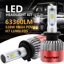 H7 63360LM 528W LED Lamp Headlight Kit Car Beam Bulbs 6000K Cool High Power 2X