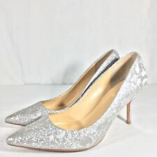 c9a43e2054 Ivanka Trump Glitter Leather Women's sz 6 High Heels Pointed Toe Pumps 3