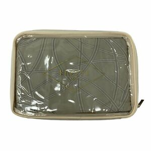 Frette  Sateen Jacquard Cerchi Beige gray standard pillow sham case NWT
