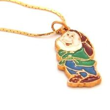 Vintage Walt Disney Dwarf Sleepy? pendant necklace Koo Doo Hong Kong rare