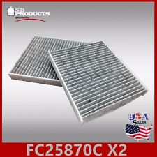 FC25870C(CARBON) 2PC/SET CABIN AIR FILTER ~ G25 G37 M35 M45 Q40 Q50 Q60 & QX50