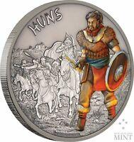 2017 Niue -  Warriors Of History - Huns 1 oz Coin #10/10