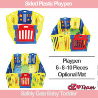 Sided Plastic Playpen Safety Gate Baby Toddler Child 6 or 8 or 10 panel 3 shapes