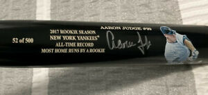 Aaron Judge 2017 Most Home Runs By A Rookie All-Time Record Picture Bat