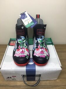 BNWT Joules Wellibobs Size 6 EU 39 Navy Floral Womens Boxed