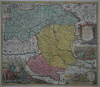 Ducatus Stiriae - Steiermark - J. B. Homann - 1720 - Altkoloriert - Selten