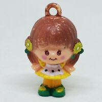 Vintage Charmkins Brown Eyed Susan Hasbro 80s Jewelry Doll Figure Charm