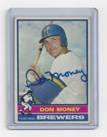 1976 BREWERS Don Money signed card AUTO Topps #402 Autographed Milwaukee