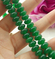 Natural 5x8MM Green Emerald Abacus Loose Beads Gemstone 15''