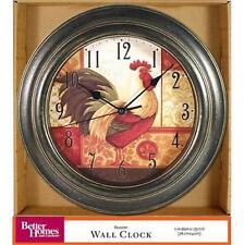 """Antique Bronze ROOSTER Wall Clock Better Homes & Garden Clock NEW 11"""" x 1.75"""""""
