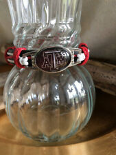 "Texas A & M Aggies Layer Multi Strand Leather String Bracelet Adjustable 7""-9"""