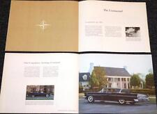 "1959 Lincoln Mark IV history book ""1922-1959 Pursuit of Perfection"" cars  104"