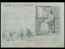 ALBUM AUTOGRAPHIQUE 1867 - EUGENE BOUDIN, VETTER WILLEMS VERON BAADER DEVEDEUX