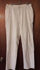 New St. John's Bay Corduroy Pants Off White Cotton Blend 5 Pocket Size 12