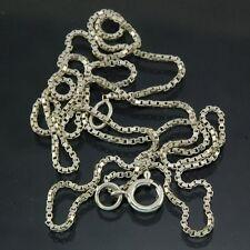 Silver BOX Chain, Length: 16.8 inch / 42cm, (2g) Sterling Silver