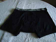 Mens  Underwear  Boxer New  Sz XL    ALFANI Black  100% Combed Cotton