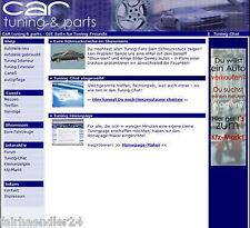 AUTO TUNING PROJEKT Webshop Homepage Webprojekt HMTL SHOP MASTER RESELLER LIZENZ