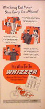 1948 Whizzer Motor Bike~Bicycles~America's Thriftiest Power Transportation AD