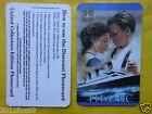 phone cards 50 units leonardo di caprio kate winslet titanic 1997 telefonkarten