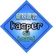 Baby Kacper On Board Car Sign New Boy/Birthday Gift