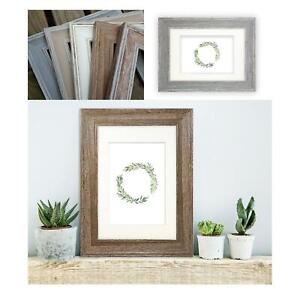 Madison Photo Frame Picture Poster Shabby Chic Wide Distressed Wall Mounted UK